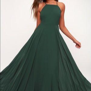 Forest green lulu's long maxi dress